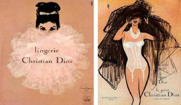René-Gruau-Dior-Lingerie-Image-via-thestylistdenwordpresscom-Left-Dior-Lingerie-Image-via-pinterestcom-Right